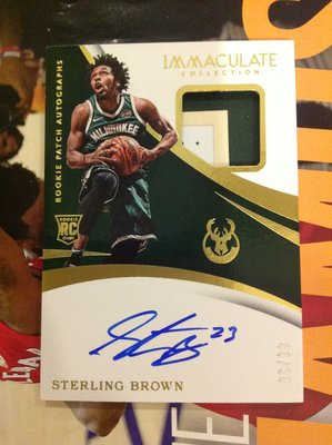 17 18 Immaculate - Sterling Brown RPA 限量/99