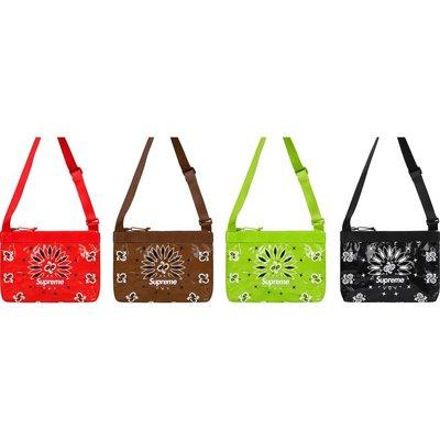 【日貨代購CITY】2021SS Supreme Bandana Tarp Side Bag 變形蟲 小包 現貨