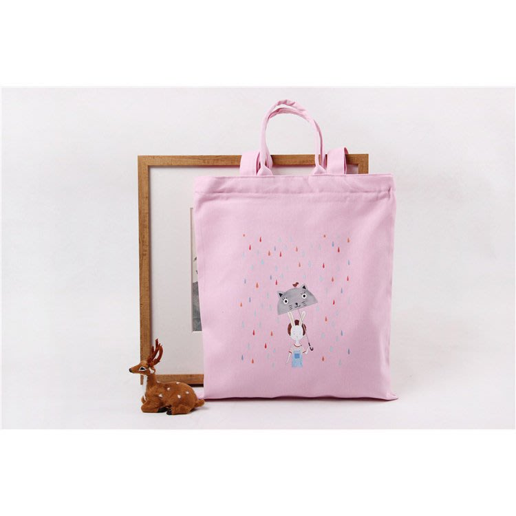 手提包 帆布袋 手提單肩兩用環保購物袋【SPA63】