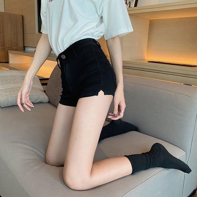 FINDSENSE 正韓女裝 G6 黑色 藍色 夏季 中高腰 女性 短褲 女褲 夜店 牛仔 低腰 超短熱褲 褲子