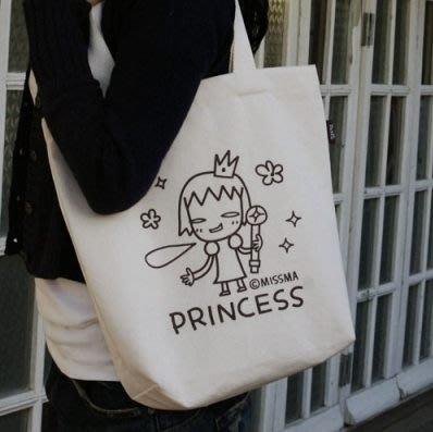 【Carrot Art】韓國 Desin MISSMA CANVAS BAG 帆布萬用背袋