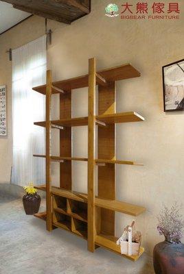 【大熊傢俱】DG-5a 大綠地 原木架 實木書架 雜誌架 原木書櫃 展示櫃 收納架 置物架 盆景架 五層架 收納櫃
