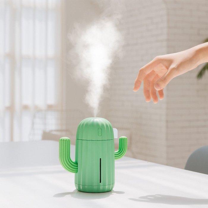 充電款usb無線加濕器仙人掌便攜式噴霧迷你小型香薰機車用家用靜音臥室學生宿舍床頭桌面辦公室
