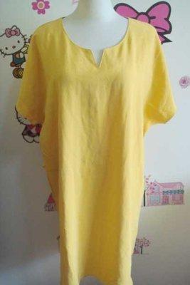 I.MODA短袖V領素面寬鬆洋裝中大尺碼中長裙休閒連身裙(OB嚴選)149+一元起標