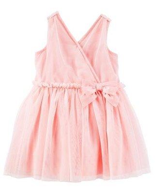 OSHKOSH 2-PIECE RUFFLE TULLE DRESS 打摺絹網小洋裝 小禮服 粉色 24m 美國正品