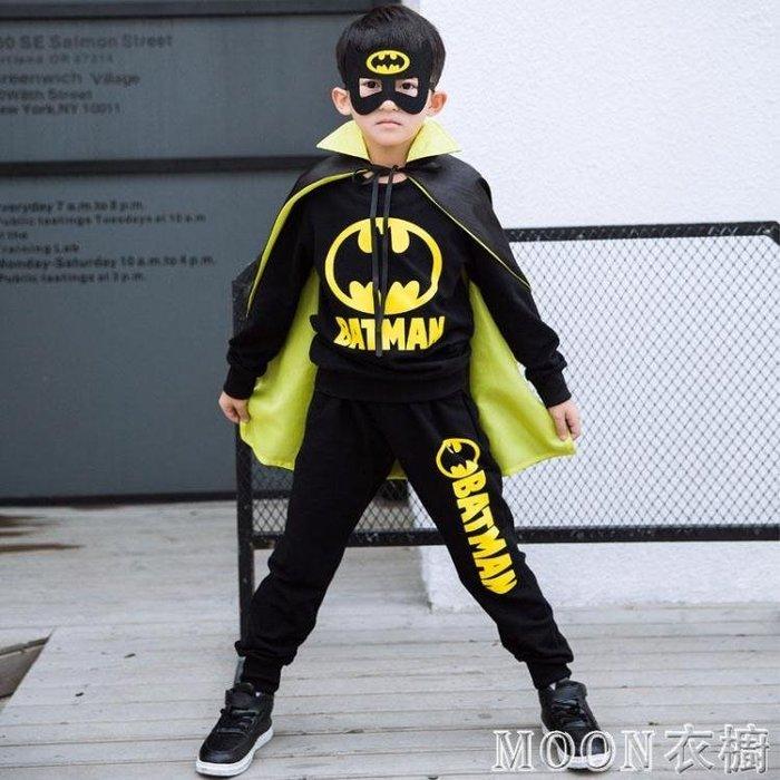 萬聖節 童裝萬圣節兒童服裝男童套裝春秋6男孩蜘蛛俠cosplay蝙蝠俠演出服