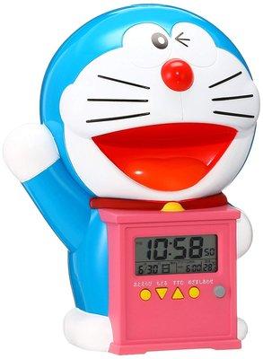 日本代購 SEIKO 精工 哆啦A夢 小叮噹會說話 溫度 濕度 日曆 貪睡 電子 時鐘 鬧鐘 預購