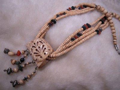 西藏精品~清製 氂牛骨精雕項鍊~貴族佩...