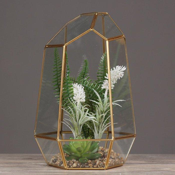 〖洋碼頭〗北歐幾何玻璃罩花房微景觀家居客廳書房電視櫃創意軟裝飾盆栽擺件 hbs253