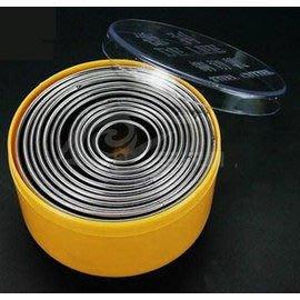 【切模-鋼-圓形-光級-12頭】烘焙工具 鋼切模 切片器 餃子蛋撻皮-8001001