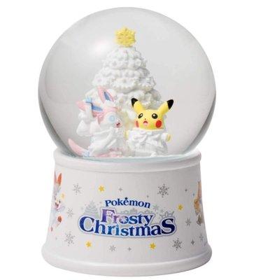 鼎飛臻坊 POKEMON 寶可夢 神奇寶貝 皮卡丘 Frosty Christmas 冰雪聖誕節 水晶球 日本正版