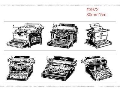 小螃蟹❤文雜:和紙膠帶/裝飾膠帶【打字機】