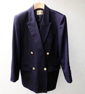日本製 Trente Cormorant 女款 深紫藍 純羊毛 西裝外套
