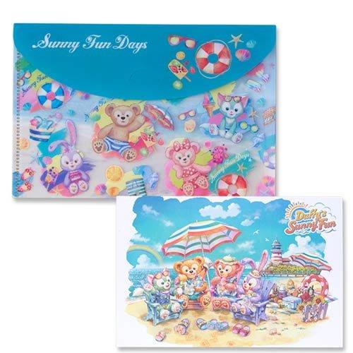 Ariel Wish預購日本東京迪士尼2019夏季夏天海灘度假達菲熊Duffy雪莉玫史黛拉兔兔畫家貓明信片檔案夾資料袋組