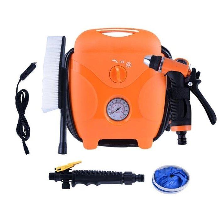 『格倫雅』汽車機 車載洗車器12v高壓便攜迷你家用自吸多功能水槍充氣泵一體機神器^13896