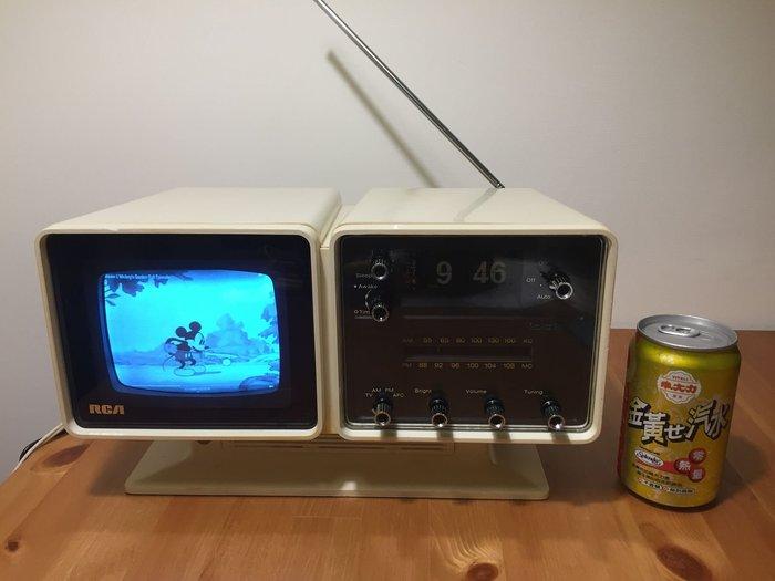 1974 RCA AS059Y 黑白電視/收音機/翻頁時鐘