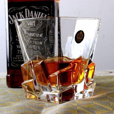 (六隻裝)無鉛水晶玻璃威士忌杯洋酒杯果汁杯水杯 茶杯啤酒杯yi   全館免運