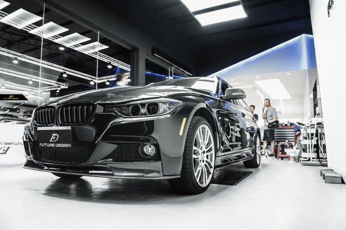 【政銓企業有限公司】BMW F30 F31 MTECH 專用 P式樣 三件式 抽真空 卡夢 前下巴 免費安裝 現貨