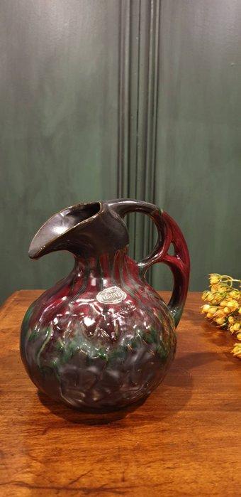 【卡卡頌 歐洲古董】比利時老件 特殊  手工  超美 藝術家  彩陶  多角度造型  花瓶  p1733