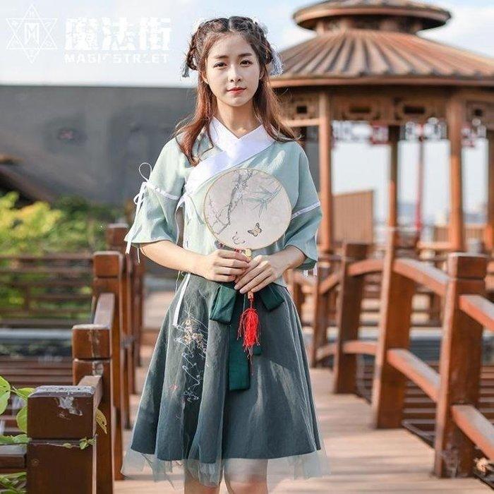 YEAHSHOP 古風漢服服飾日常改良古裝漢服夏新款女裝繡Y185