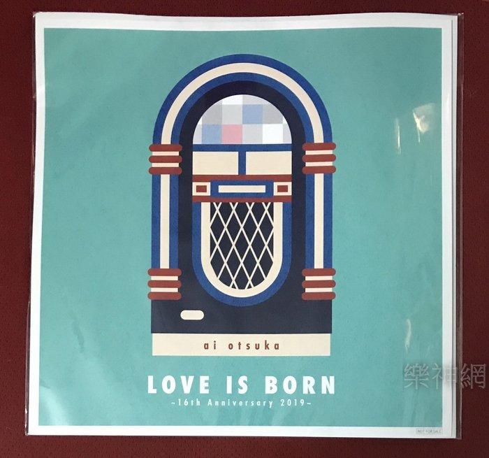 大塚愛 Otsuka Ai LOVE IS BORN 16th Anniversary 2019【日版特典大型卡片】全新