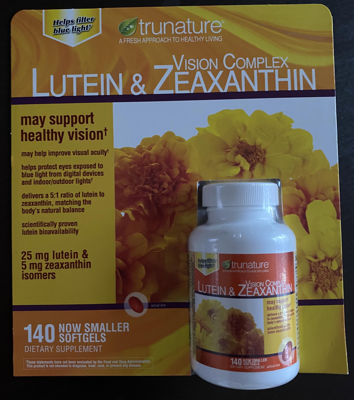 美國 Trunature 視力複合物葉黃素和玉米黃質  140 顆裝 效期:2022/03