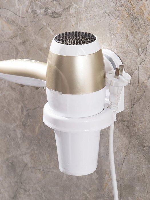 AFF075 吹風機架子 壁掛 專利強力吸盤 免釘免鑽孔 浴室置物架 吹風機架 吸盤壁掛吹風機架188