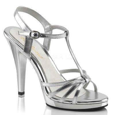 Shoes InStyle《四吋》美國品牌 FABULICIOUS 原廠正品高跟涼鞋 有大尺碼『銀色』
