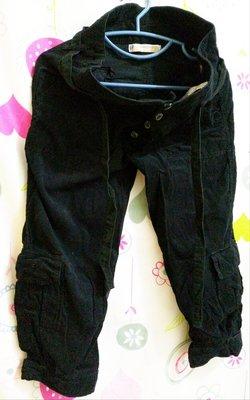Zara TRF 嘻哈八分褲 綁腰帶 側褲袋 49元起標 M號