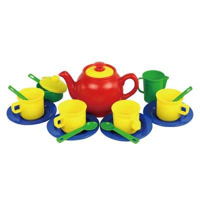 【晴晴百寶盒】台灣品牌 茶壺8件套彩盒裝 WISDOM 家家酒遊戲 教具益智遊戲 環保無毒玩具 檢驗合格W903
