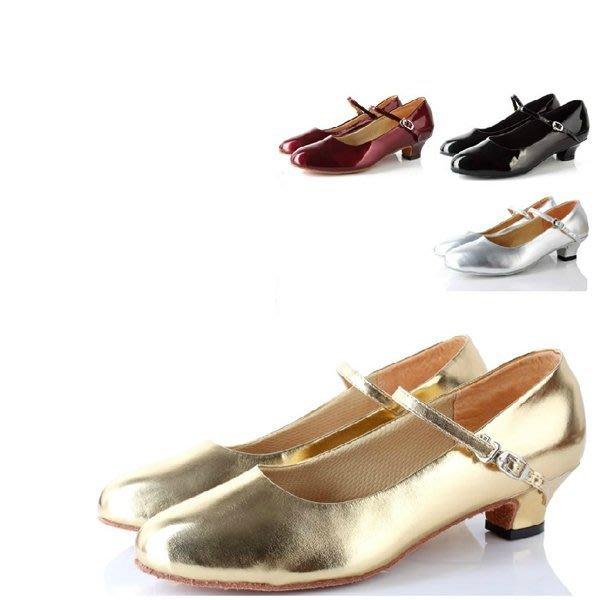 5Cgo【鴿樓】會員有優惠 36999677971 成人亮革膠底廣場舞鞋戶外交誼舞鞋拉丁舞鞋平跟包頭鞋拉丁舞鞋