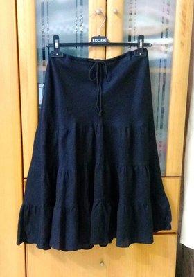 Polo Jeans Company  棉麻浪漫裙襬長裙 305(黑色)