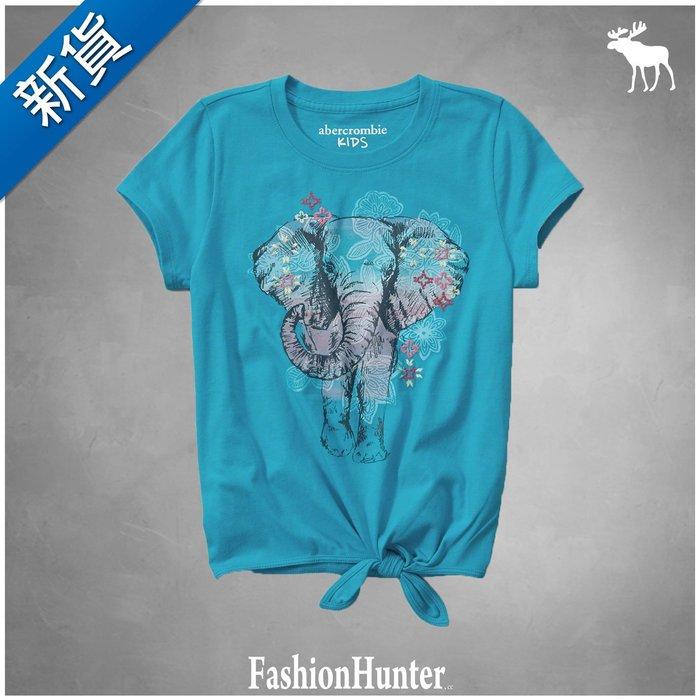 新貨【FH.cc】A&F Kids 短袖T恤 tie front tee 腰部綁帶裝飾設計 刺繡花瓣 HCO