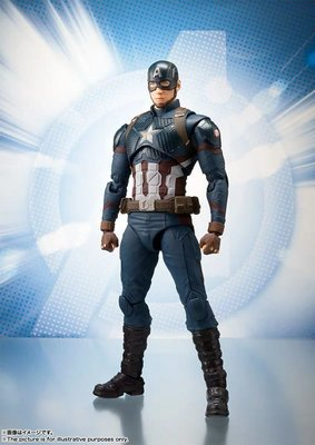 全新未開 行版 bandai shf marvel avengers captain america 美國隊長 復仇者聯盟 終局之戰 endgame 美隊