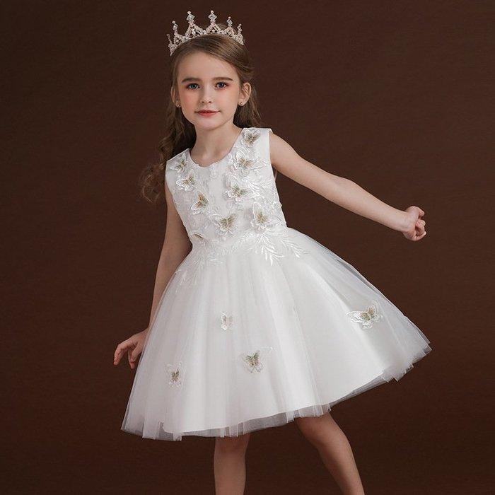 •*~ 辣媽咪衣飾小舖 ~*•❤童裝系列❤K970449韓版大童夏款甜美清新時尚蓬蓬蕾絲亮片可愛公主禮服公主洋裝