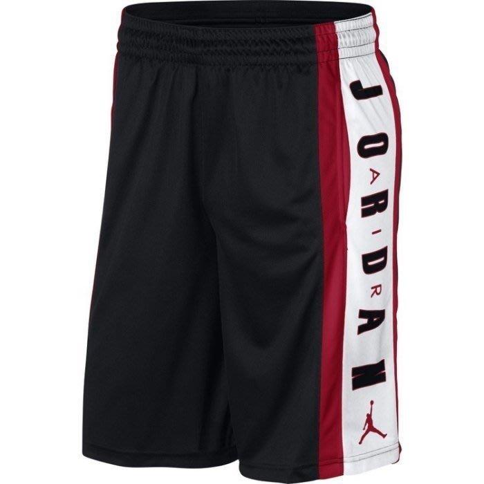 Nike 男AS RISE  SHORT 3 黑 紅白 英文 籃球短褲  924567-010 -SPEEDKOBE-