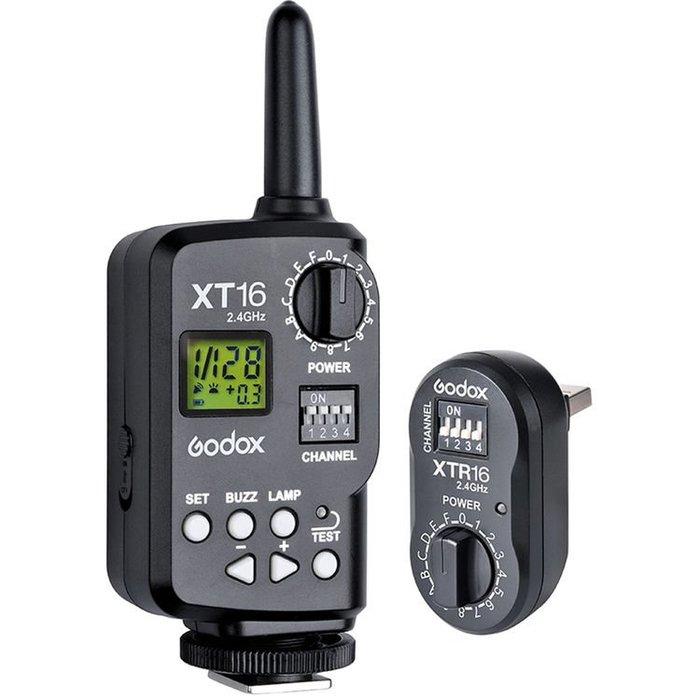 呈現攝影-Godox神牛 XT-16 無線電2.4G觸發器組 引閃器 搖控 AD-360 棚燈