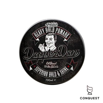 【 CONQUEST 】英國 Dapper Dan Heavy Hold Pomade 油水混合髮油 黑罐 時髦丹 油頭