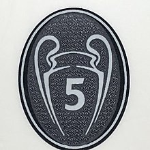 歐聯 Uefa Champions League 5 winner Trophy patch