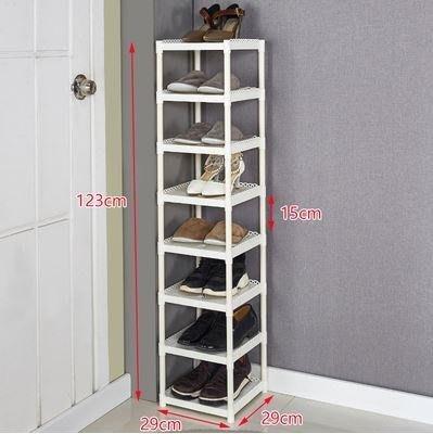 慳位直立鞋架($180 包送貨)8層小型高層簡易門口窄小型迷你門外樓道宿舍大學生寢室