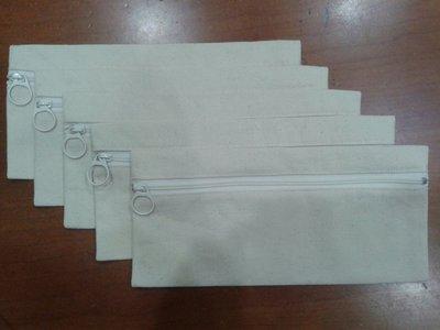 帆布平面筆袋 100%台灣製純棉布可作手工彩繪,蝶古巴特拼貼畫使用~~