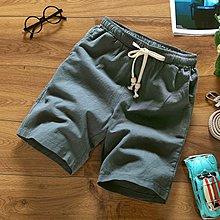 逆主流   夏季大碼男士清涼棉麻材質短褲男寬鬆休閑五分褲