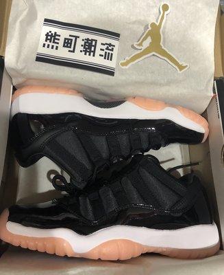 23.5全新 Air Jordan 11 Low Bleached Coral 580521-013 黑 低筒