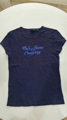 降價囉~~Polo Jeans Company 超好看亮藍粉logo T恤 T-shirt XS號
