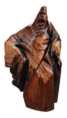 [客人寄賣] 朱銘 木雕 太極 1980 148X86X70cm