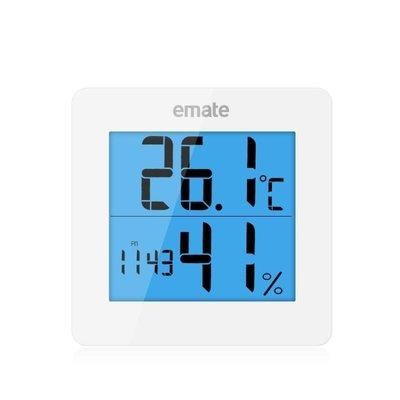 鬧鐘 電子鐘溫濕度顯示計鬧鐘室內電子溫濕度計家用時鐘