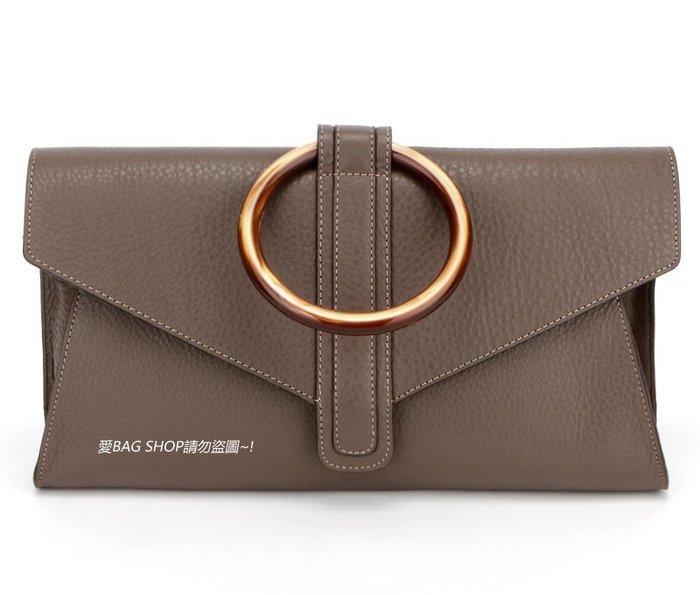 愛BAG SHOP 韓國 真皮 牛皮 手環造型(醋酸樹指) 手拿包 可肩背 預購 3190 共四色