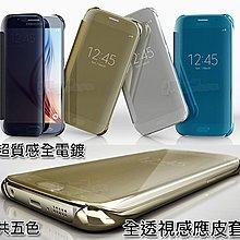全透視感應皮套 S6/S6 edge plus/A5/A7/A8/J7/Note 4 5 Note8 Clear View 鏡面手機殼/智慧顯影手機套/保護套
