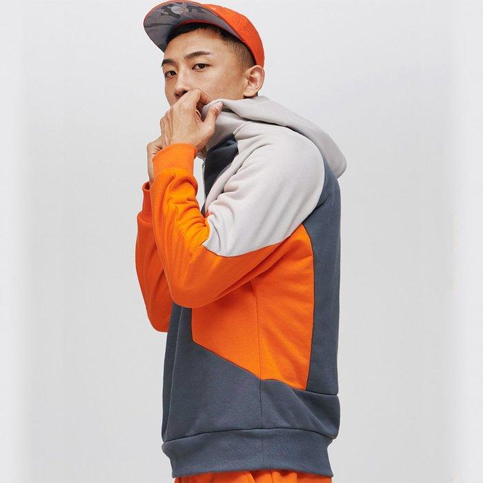 【OTOKO Men's Boutique】固制:赤鐵拼接純棉帶帽衛衣 (台灣獨家代理) 原廠正品