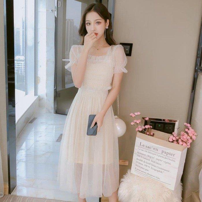 『LOCO』 女裝潮新款潮很仙的夏款連衣裙子小清新風超仙女森系甜美網紗CO686